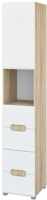 Шкаф-пенал Неман Леонардо МН-026-20 (белый полуглянец/дуб Сонома) -