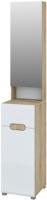 Шкаф-пенал Мебель-Неман Леонардо МН-026-36 (белый полуглянец/дуб Сонома) -