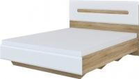 Двуспальная кровать Неман Леонардо МН-026-10 (белый полуглянец/дуб Сонома) -