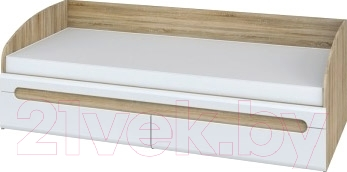 Односпальная кровать Мебель-Неман Леонардо МН-026-12 (белый полуглянец/дуб Сонома)