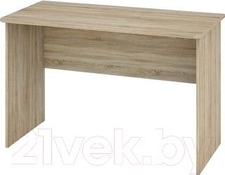 Письменный стол Мебель-Неман Леонардо МН-026-14 (белый полуглянец/дуб Сонома)