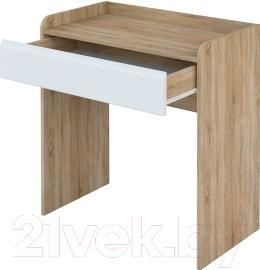 Туалетный столик Мебель-Неман Леонардо МН-026-13 (белый полуглянец/дуб Сонома)