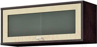 Шкаф навесной Мебель-Неман Домино Венге ВК-04-15 (береза/венге)