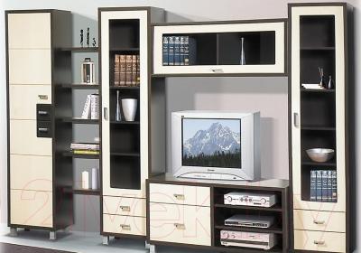 Шкаф навесной Мебель-Неман Домино Венге ВК-04-15 (береза/венге) - в интерьере