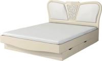 Двуспальная кровать Неман София МН-025-01 (кремовый глянец) -