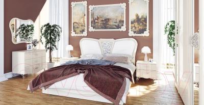 Двуспальная кровать Мебель-Неман София МН-025-01 (кремовый глянец)