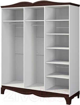 Шкаф Мебель-Неман Тиффани МН-122-04 (белый полуглянец/венге) - внутреннее пространство