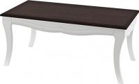 Журнальный столик Мебель-Неман Тиффани МН-122-07 (белый полуглянец/венге) -