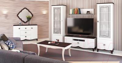 Журнальный столик Мебель-Неман Тиффани МН-122-07 (белый полуглянец/венге)