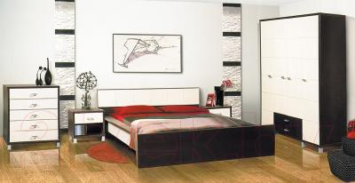 Двуспальная кровать Мебель-Неман Домино Венге СП-004-01 (береза/венге)