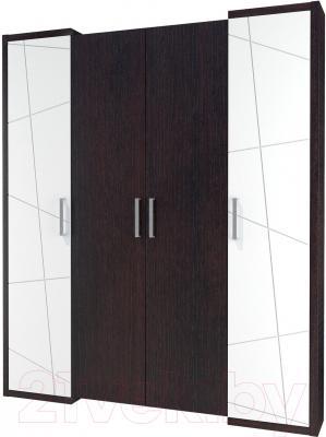 Шкаф Мебель-Неман Барселона МН-115-04 (белый глянец/дуб Ниагара)