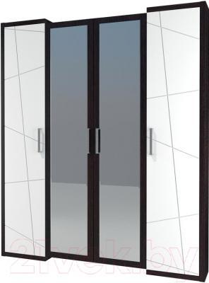 Шкаф Неман Барселона МН-115-04 (белый глянец/дуб Ниагара)