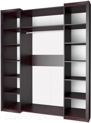 Шкаф Мебель-Неман Барселона МН-115-04 (белый глянец/дуб Ниагара) - внутреннее пространство
