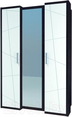 Шкаф Мебель-Неман Барселона МН-115-03 (белый глянец/дуб Ниагара)