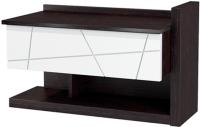Туалетный столик Мебель-Неман Барселона МН-115-07 (белый глянец/дуб Ниагара) -