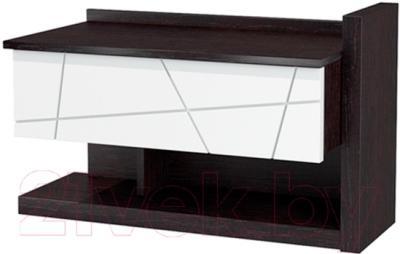 Туалетный столик Мебель-Неман Барселона МН-115-07 (белый глянец/дуб Ниагара)