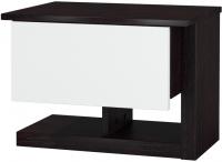 Прикроватная тумба Мебель-Неман Барселона МН-115-02 (белый глянец/дуб Ниагара) -