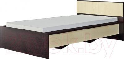 Односпальная кровать Мебель-Неман Домино Венге СП-004-02 (береза/венге)