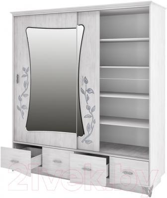 Шкаф Мебель-Неман Бристоль МН-125-04 (северное дерево) - внутреннее пространство