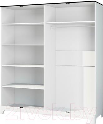 Шкаф Мебель-Неман Верона МН-024-04 (белый глянец) - внутреннее пространство