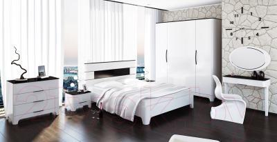 Двуспальная кровать Мебель-Неман Верона МН-024-01 (белый глянец)