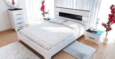 Прикроватная тумба Мебель-Неман Верона МН-024-02 (белый глянец) - в интерьере