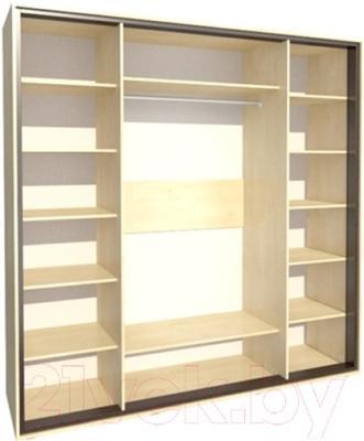 Шкаф Мебель-Неман Глория МН-210-07 (береза) - внутреннее пространство