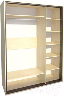 Шкаф Мебель-Неман Глория МН-210-06 (береза) - внутреннее пространство