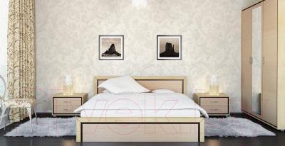 Двуспальная кровать Мебель-Неман Глория МН-210-01 (береза)