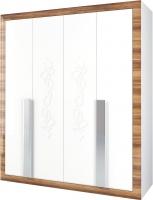 Шкаф Мебель-Неман Лотос МН-116-04 (белый глянец/груша глянец) -