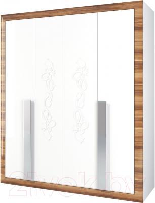 Шкаф Мебель-Неман Лотос МН-116-04 (белый глянец/груша глянец)