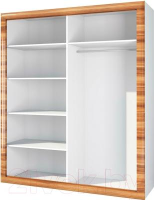 Шкаф Мебель-Неман Лотос МН-116-04 (белый глянец/груша глянец) - внутреннее пространство