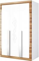 Шкаф Мебель-Неман Лотос МН-116-03 (белый глянец/груша глянец) -