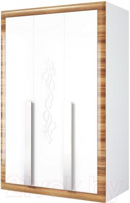 Шкаф Мебель-Неман Лотос МН-116-03 (белый глянец/груша глянец)