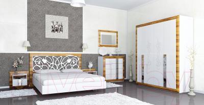 Шкаф Мебель-Неман Лотос МН-116-03 (белый глянец/груша глянец) - коллекция Лотос