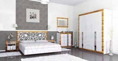 Комод Мебель-Неман Лотос МН-116-06 (белый глянец/груша глянец)