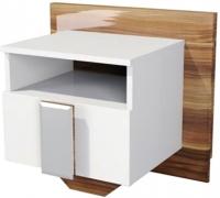 Прикроватная тумба Мебель-Неман Лотос МН-116-02 (белый глянец/груша глянец) -