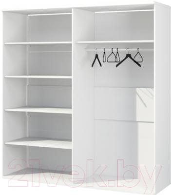 Шкаф Мебель-Неман Милана МН-119-07 (белый полуглянец) - внутреннее пространство