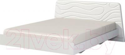 Двуспальная кровать Неман Милана МН-119-01 (белый полуглянец)