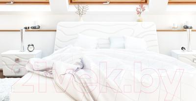 Прикроватная тумба Мебель-Неман Милана МН-119-02 (белый полуглянец) - в интерьере