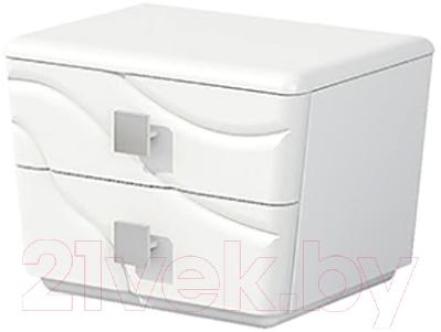 Прикроватная тумба Мебель-Неман Милана МН-119-02 (белый полуглянец)