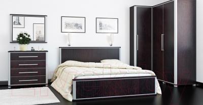 Двуспальная кровать Мебель-Неман Наоми МН-021-06 (дуб Ниагара)