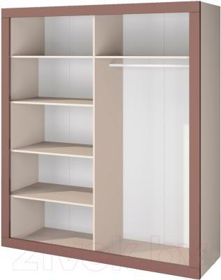 Шкаф Мебель-Неман Эллипс МН-118-04 (св.-коричневый глянец/капучино) - внутреннее пространство