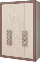 Шкаф Мебель-Неман Эллипс МН-118-03 (св.-коричневый глянец/капучино) -