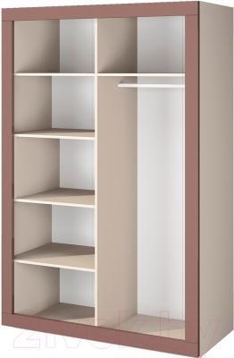 Шкаф Мебель-Неман Эллипс МН-118-03 (св.-коричневый глянец/капучино) - внутреннее пространство