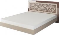 Двуспальная кровать Неман Эллипс МН-118-01 (св.-коричневый глянец/капучино) -