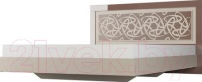 Двуспальная кровать Мебель-Неман Эллипс МН-118-01 (св.-коричневый глянец/капучино)
