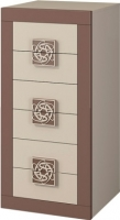 Комод Мебель-Неман Эллипс МН-118-06 (св.-коричневый глянец/капучино) -