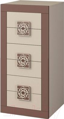 Комод Мебель-Неман Эллипс МН-118-06 (св.-коричневый глянец/капучино)