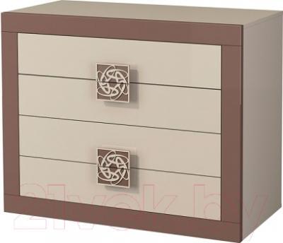 Комод Мебель-Неман Эллипс МН-118-11 (св.-коричневый глянец/капучино)